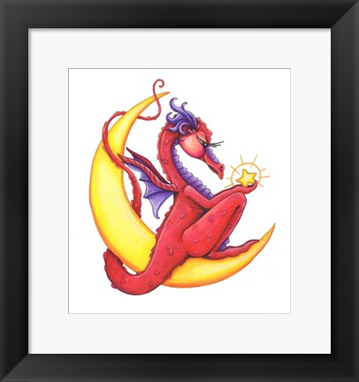 Framed StarShine (Red Dragon) Print