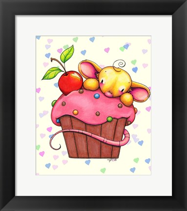 Framed Sweet Cherry Chip Print