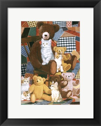 Framed Teddy's And Friends Print