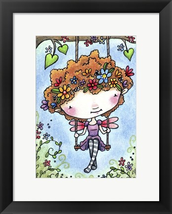 Framed Garden Swing Print