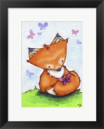 Framed Little Fox and New Friend Print