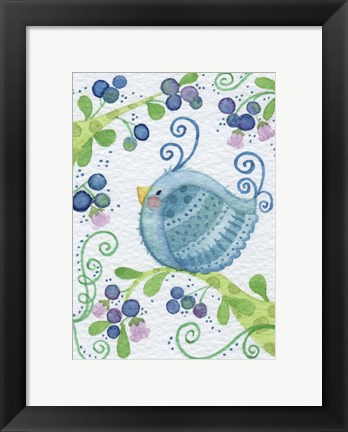 Framed Blueberry Morning Print
