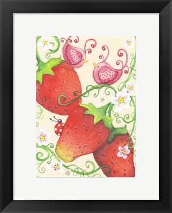 Framed Strawberry Afternoon Print