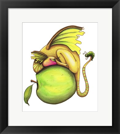 Framed Golden Delicious-Dragon Print