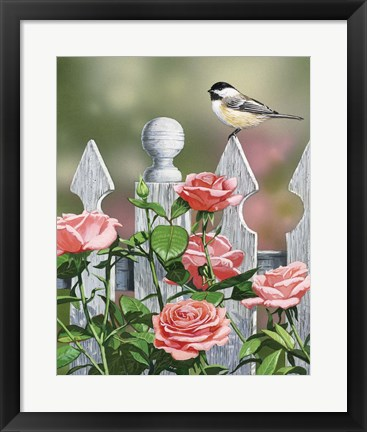Framed Country Garden Print