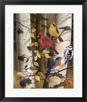 Framed Autumn Friends Print