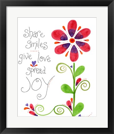 Framed Spread Joy Print