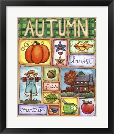 Framed Signs of Autumn Print