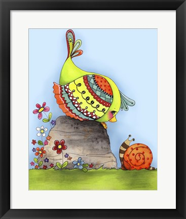 Framed Chit Chat Birdy Print