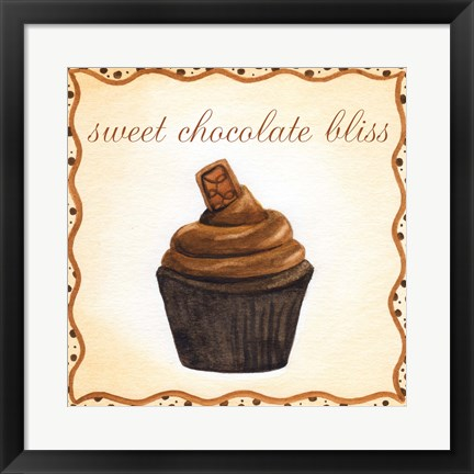 Framed Chocolate Cupcake Print