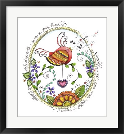 Framed Song Bird Print