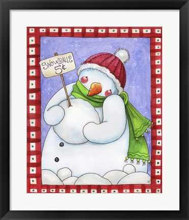 Framed Snowballs for Sale Print