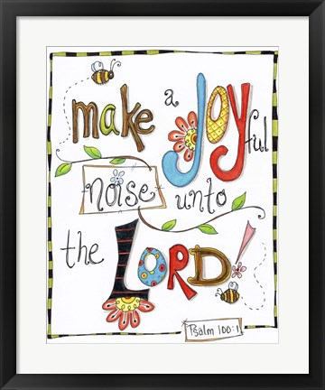 Framed Words of Joy - Joyful Noise Print