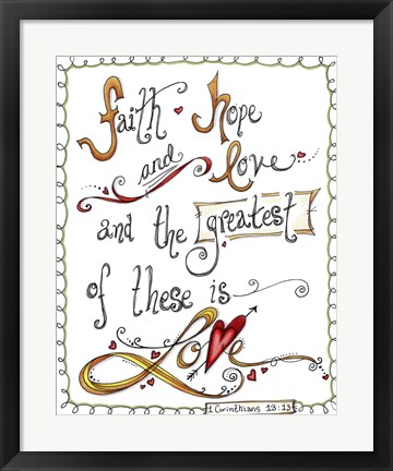 Framed Words of Love - Greatest of These Print