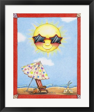 Framed Fun in the Sun Print