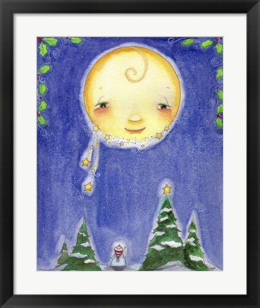 Framed Holiday Moon Print