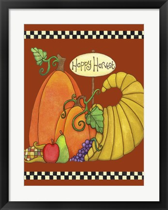 Framed Happy Harvest Cornucopia Print