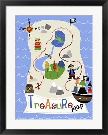 Framed Treasure Map Print