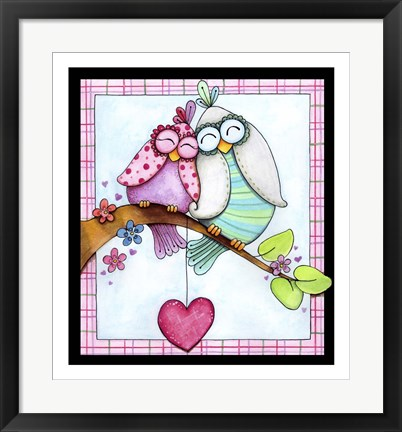 Framed Love in the Air Print