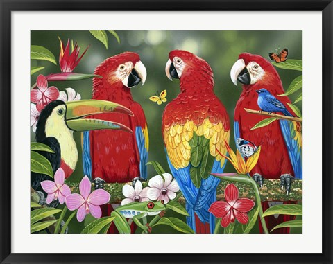 Framed Tropical Friends Print