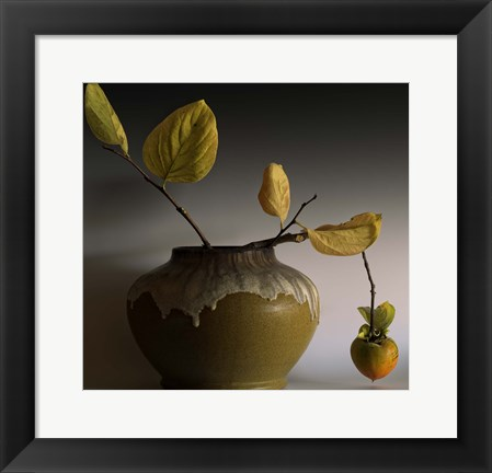 Framed Still Life with Persimmon Print