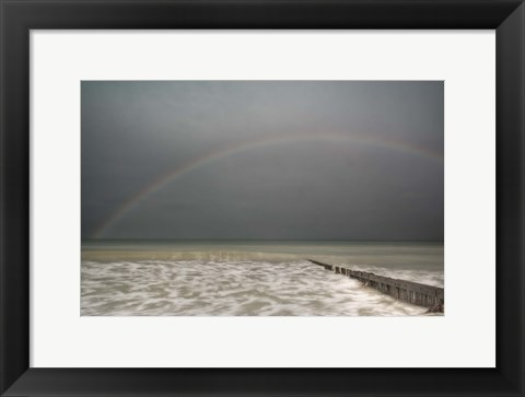 Framed Sun Shower over the English Channel Print