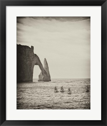 Framed Four Blue Sails Print