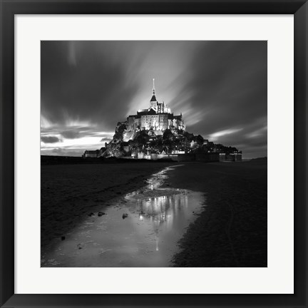 Framed St Michel Reflection Print