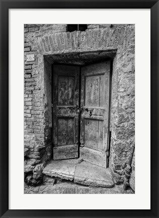 Framed Siena Door Print
