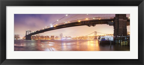 Framed Brooklin Bridge Pano 1 Print