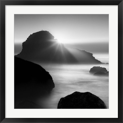 Framed Long sunset at Indian Beach Print