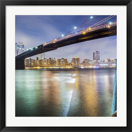 Framed Brooklyn Bridge Pano 2 2 of 3 Print