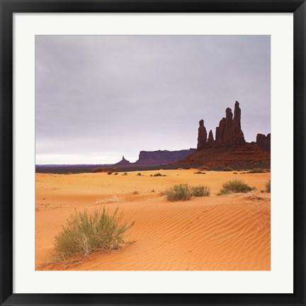 Framed Monument Valley Panorama 1 2 of 3 Print