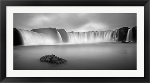 Framed Godafoss Panorama 1 Print