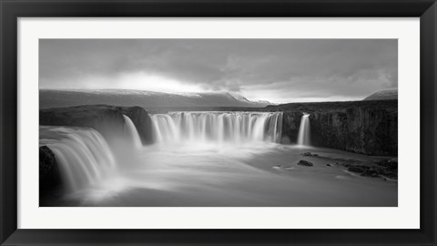 Framed Godafoss Panorama 2 Print