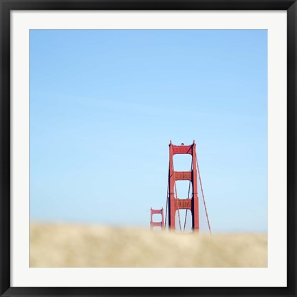 Framed Fragment Golden Gate Print