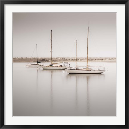 Framed Four Boats Print
