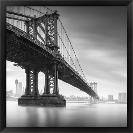 Framed Manhattan Bridge 1 Print