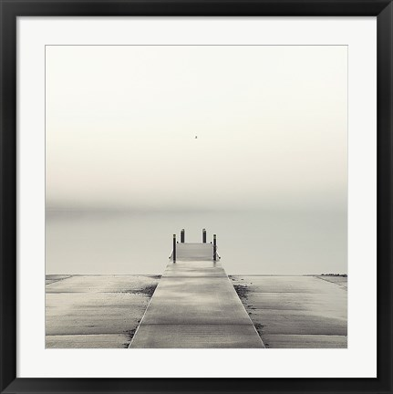 Framed Pier and Seagull Print