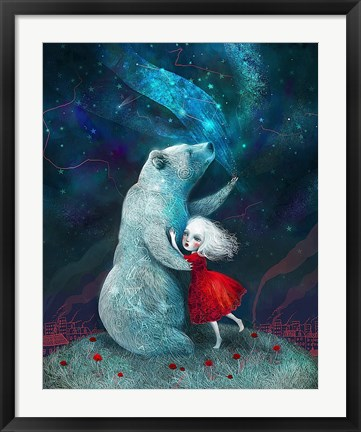 Framed Star Bear Watched Over Her Print