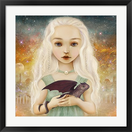 Framed Dragon Princess Print