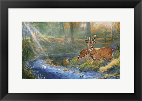 Framed Mists of Autumn Print