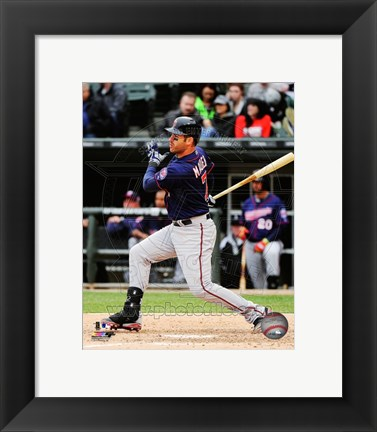 Framed Joe Mauer 2014 Action Print
