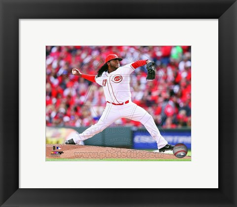 Framed Johnny Cueto Baseball Pitching Print