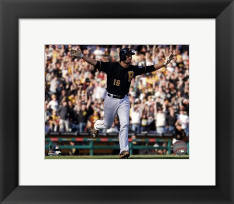 Framed Neil Walker 2014 Action Print