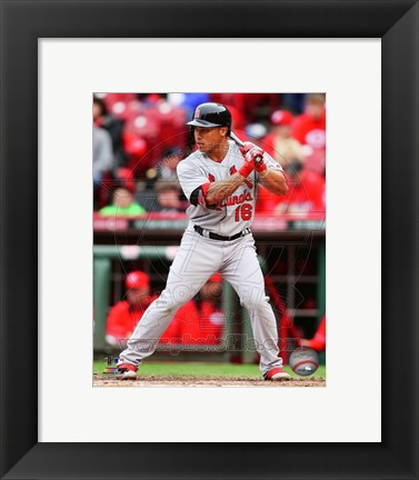 Framed Kolten Wong 2014 Action Print
