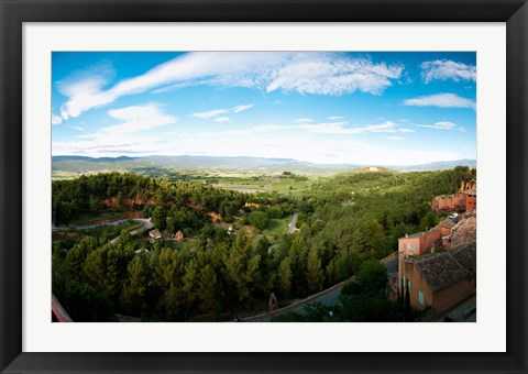 Framed Clouds over a field, Roussillon, Vaucluse, Provence-Alpes-Cote d'Azur, France Print