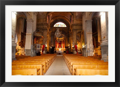 Framed Interiors of a church, Saint Esprit Church, Aix-En-Provence, Bouches-Du-Rhone, Provence-Alpes-Cote d'Azur, France Print