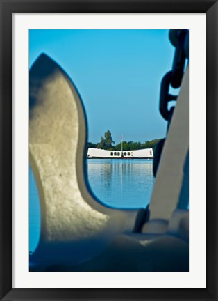 Sculpture Of An Anchor USS Arizona Memorial Pearl Harbor Honolulu Oahu Hawaii Photograph By