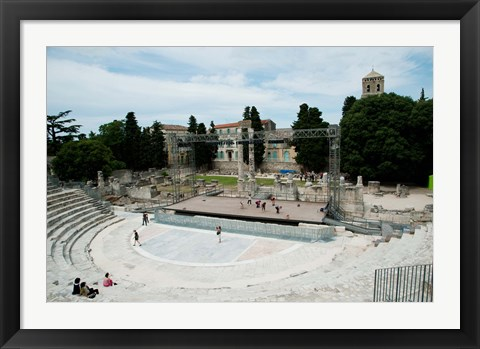 Framed Ancient theatre built 1st century BC, Theatre Antique D'Arles, Arles, Provence-Alpes-Cote d'Azur, France Print